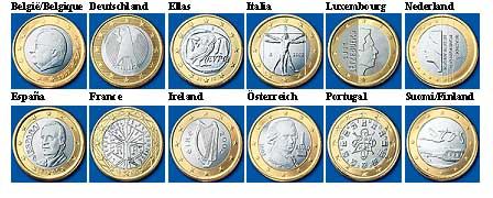 The back of a Euro coin is different for each country where it's minted.