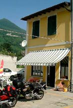 This Italian Pensione is a great stop on our Alpine motorcycle trip.