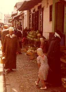 Morocco Street Scene.