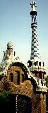 A Gaudi Garden located in Barcelona.