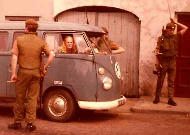 British Patrol in Armagh, Northern Ireland.
