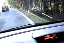 Watch out! Accidents happen all the time.  This one is on the main road to Prague, Czech Republic.