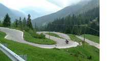 Driving in the Alps is a blast. It builds strong arms with all the turns.