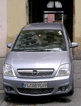 Renting a car in Europe is crazy.   I almost could drive through this ally in Prague, Czech Republic.