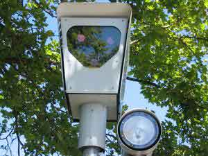 Red-light camera in Beaverton, Oregon.
