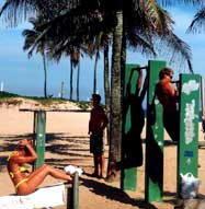 Get a workout on the Copacabana Beach.  Be one of the beautiful people.