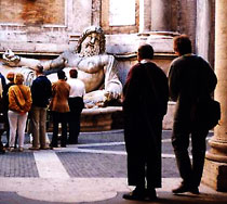 An art tour in August's Forum in Rome, Italy.