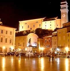 Tartinijev Trg (Square) in Piran, Slovenia.