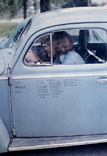 Here I am, driving in Germany with my own 1959 Volkswagen.