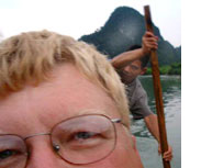 One of my best stories is when I rafted down the Dragon River near Yangshou, China, over waterfalls and at night.