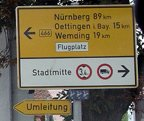 Traffic signs in Germany.