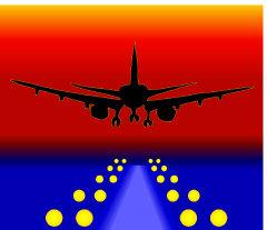 Plane landing.