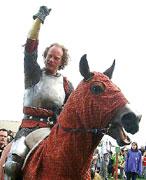 A Viking warrior at Swedish Renaissance Faire.