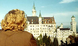 Castle Neuschwanstein is a 19th-century neo-romanticist palace on a rugged hill near Füssen, Germany.