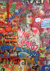 Here is the John Lennon Wall.