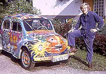 Here I am with Rose's car in 1971.
