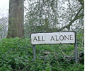 I found this sign on a lonely road in Wales. Travel can be scary.