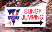 Bungy Jumping in Queensland, New Zealand.